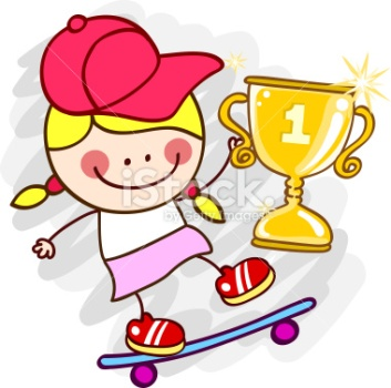 stock-illustration-17143296-female-skater-with-winner-cup-cartoon-illustration