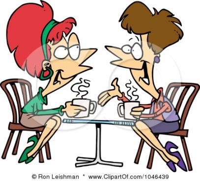 1046439-Royalty-Free-RF-Clip-Art-Illustration-Of-Cartoon-Friends-Talking-Over-Coffee