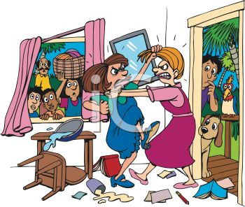 0511-1010-1220-4814_Cartoon_of_Two_Women_Fighting_in_a_Living_Room_clipart_image