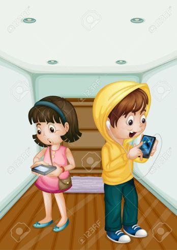 13376892-illustration-of-kids-using-mobile-technology-kids-cartoon-computer