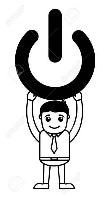 36759646-Business-Cartoon-Character-Holding-Shut-Down-Symbol-Stock-Vector