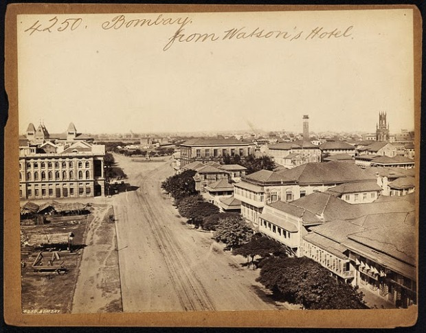 5.Bombay (Mumbai) from Watson's Hotel - 19th Century photograph.jpg