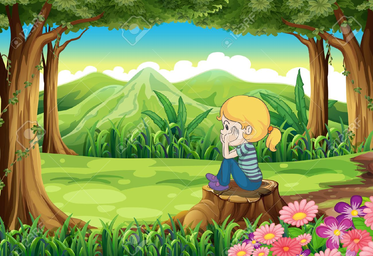 26443976-illustration-of-a-sad-girl-sitting-above-the-stump-at-the-forest.jpg