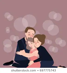 family-hug-care-father-mother-260nw-697775743