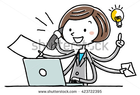 stock-vector-illustration-material-business-woman-personal-computer-multitasking-423722395