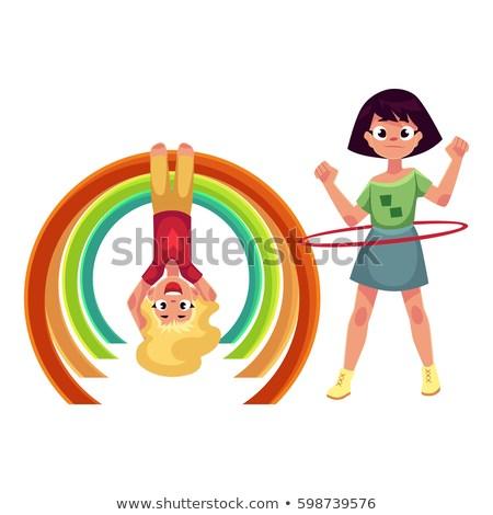 two-girls-playing-playground-spinning-450w-598739576